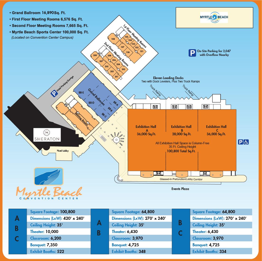 Myrtle Beach Convention Center Exhibit Hall